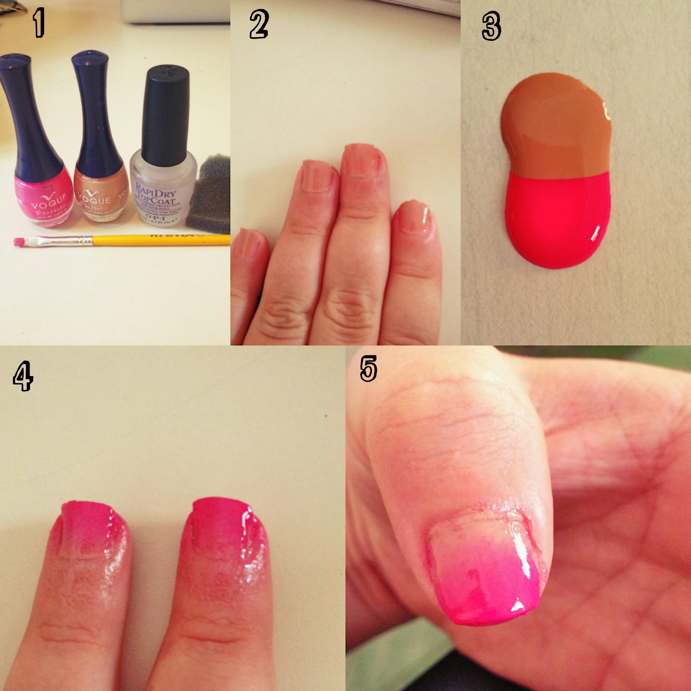 Diy Pink Ombre Nails